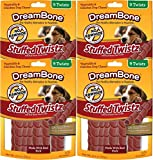 DreamBone SmartBones Stuffed Twistz, Made with Real Pork, Rawhide Free (9 Pieces/Pack, 4 Pack)