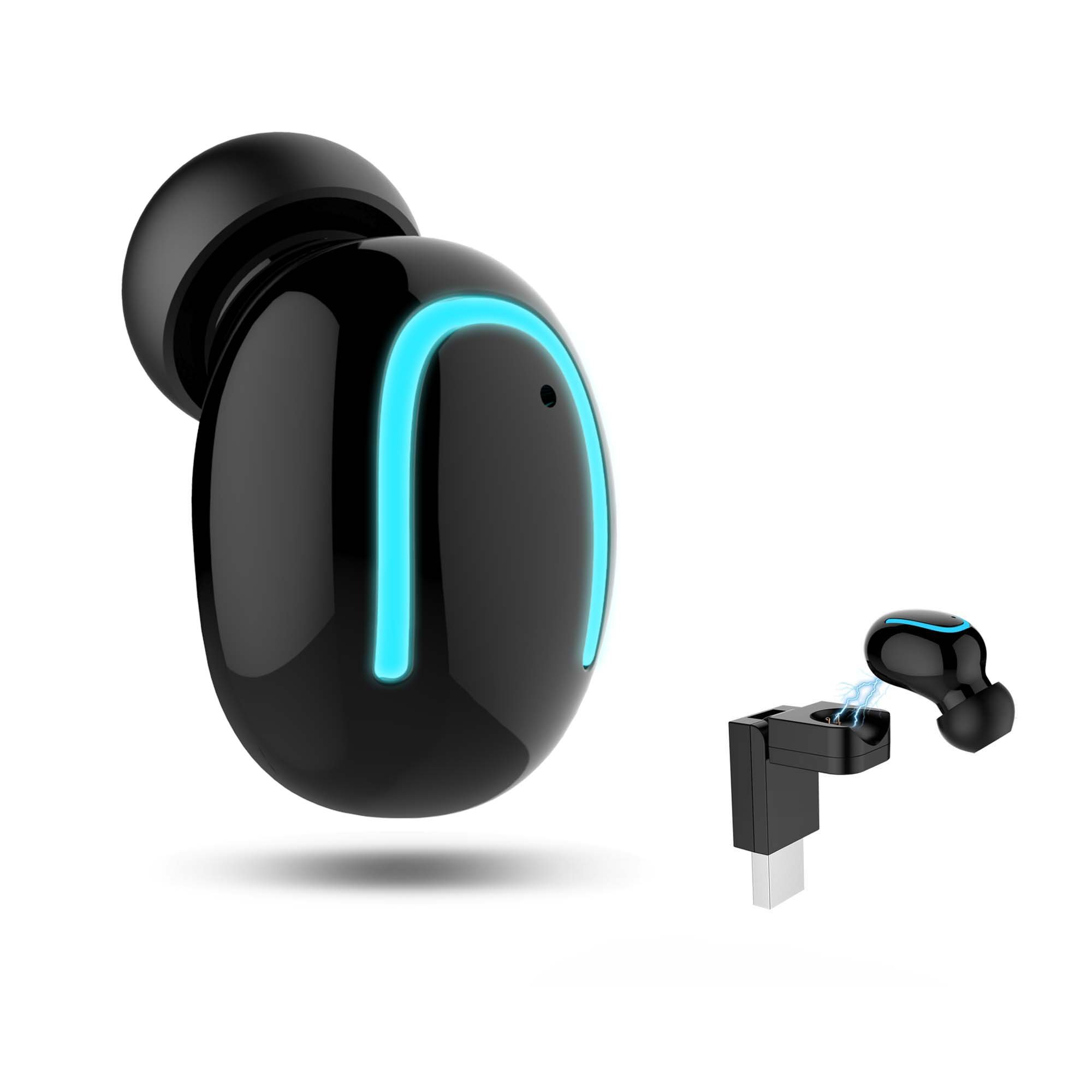 Bluetooth Headphone Wireless Sport Earbuds With Wireless USB Charger V4.1 Mini Bluetooth Earphone Earpiece Invisible Headset With Mic For iPhone Samsung Android (One Pcs)