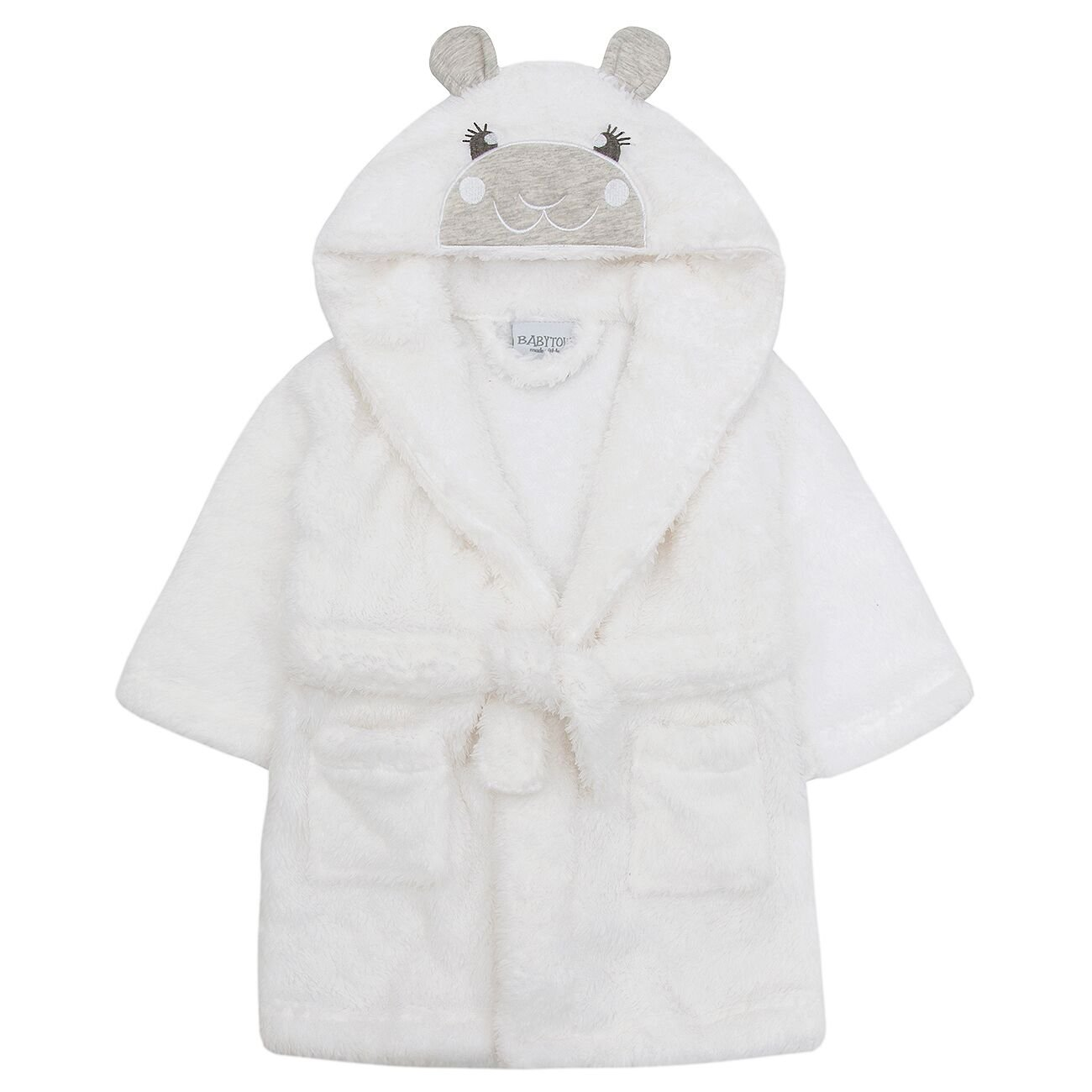 Babytown Snuggle Soft Lamb Robe Dressing Gown White