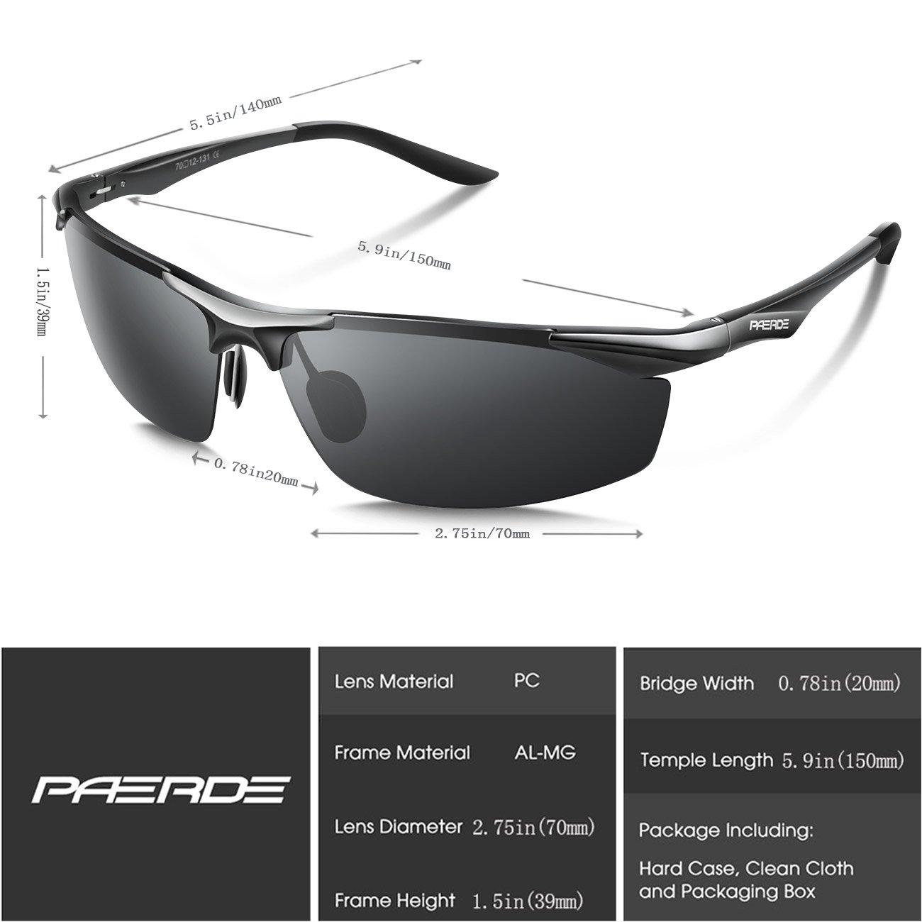Paerde - Gafas de sol polarizadas para deporte, de montura irrompible, negro: Amazon.es: Deportes y aire libre