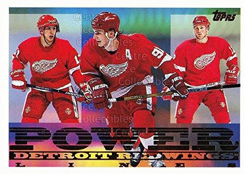 Ci Vyacheslav Kozlov Sergei Fedorov Doug Brown Hockey Card 1995 96 Topps Power Lines 8 Vyacheslav Kozlov Sergei Fedorov Doug Brown