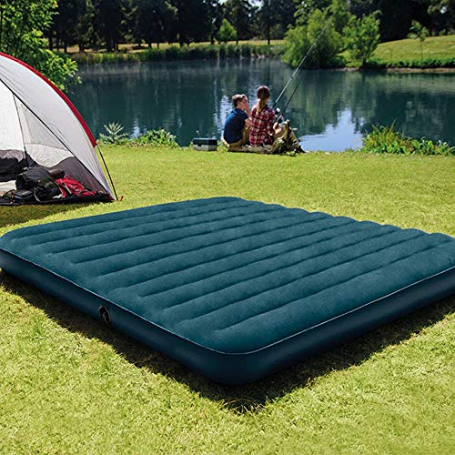 Folding Recliner Bed Outdoor Camping Inflatable Air Mattress Standard Foot Office Lunch Bed Curtain Air Bed Mattress Double Foldable Sunbed (Color : Green, Size : 203X183X25) from Dygzh