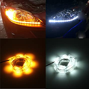 Amazoncom Light Hatop Pcs Car LED Rider Strip Light Sequential - Car signal light