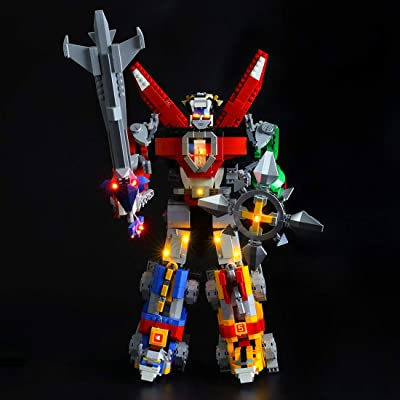 PeleusTech USB Powered LED Lighting Kit for Lego Voltron 21311 - LED Included Only, No Lego Kit: Toys & Games