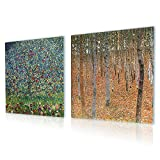 Alonline Art - Forest Apple Tree Gustav Klimt PRINT On CANVAS (100% Cotton, UNFRAMED Unmounted) 31