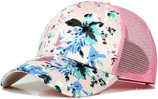 TREESTAR Gorra de béisbol con diseño de flores pintadas de verano ...