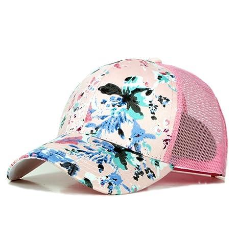 TREESTAR Gorra de béisbol con diseño de flores pintadas de verano, unisex, ajustable,