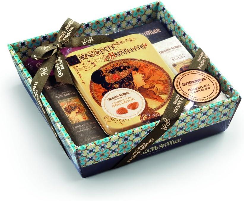 Chocolate Amatller - Chocolates variados en Cesta Regalo Carteles 266g