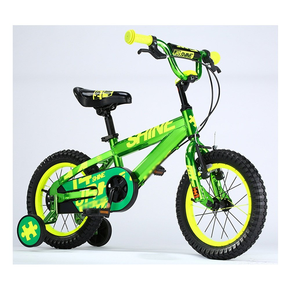 HAIZHEN マウンテンバイク 子供用自転車 トレーニングホイール付きの少年の自転車と少女の自転車 12インチ、14インチ、16インチ、18インチ アウトドアアウト 新生児 B07CCK6SJD 12 inch|緑 緑 12 inch