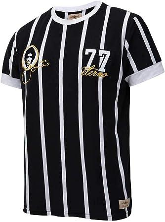 Camisa Retrô Gol Basílio Ex- Corinthians Listrada Preta Torcedor