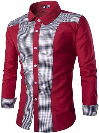 Camisas Casual Hombre Manga Larga, Covermason Trajes Casuales ...