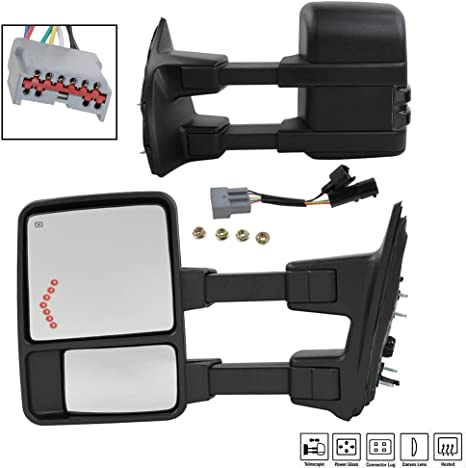 2008 super duty mirror wiring diagram amazon com motoos towing mirrors fit for 99 07 ford f 250 f 350 f  towing mirrors fit for 99 07 ford f 250
