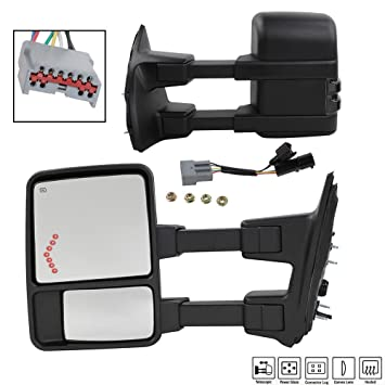 MOTOOS Tow Mirrors Fit for 99-07 Ford F-250 F-350 F-450 Super Duty on