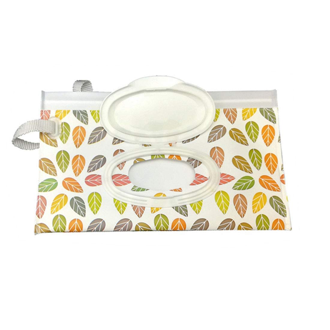 Oraunent Wet Wipe Pouch 3 PC Baby Wipes Dispenser Case Holder Reusable Wipe Bag Container Leaves by Oraunent
