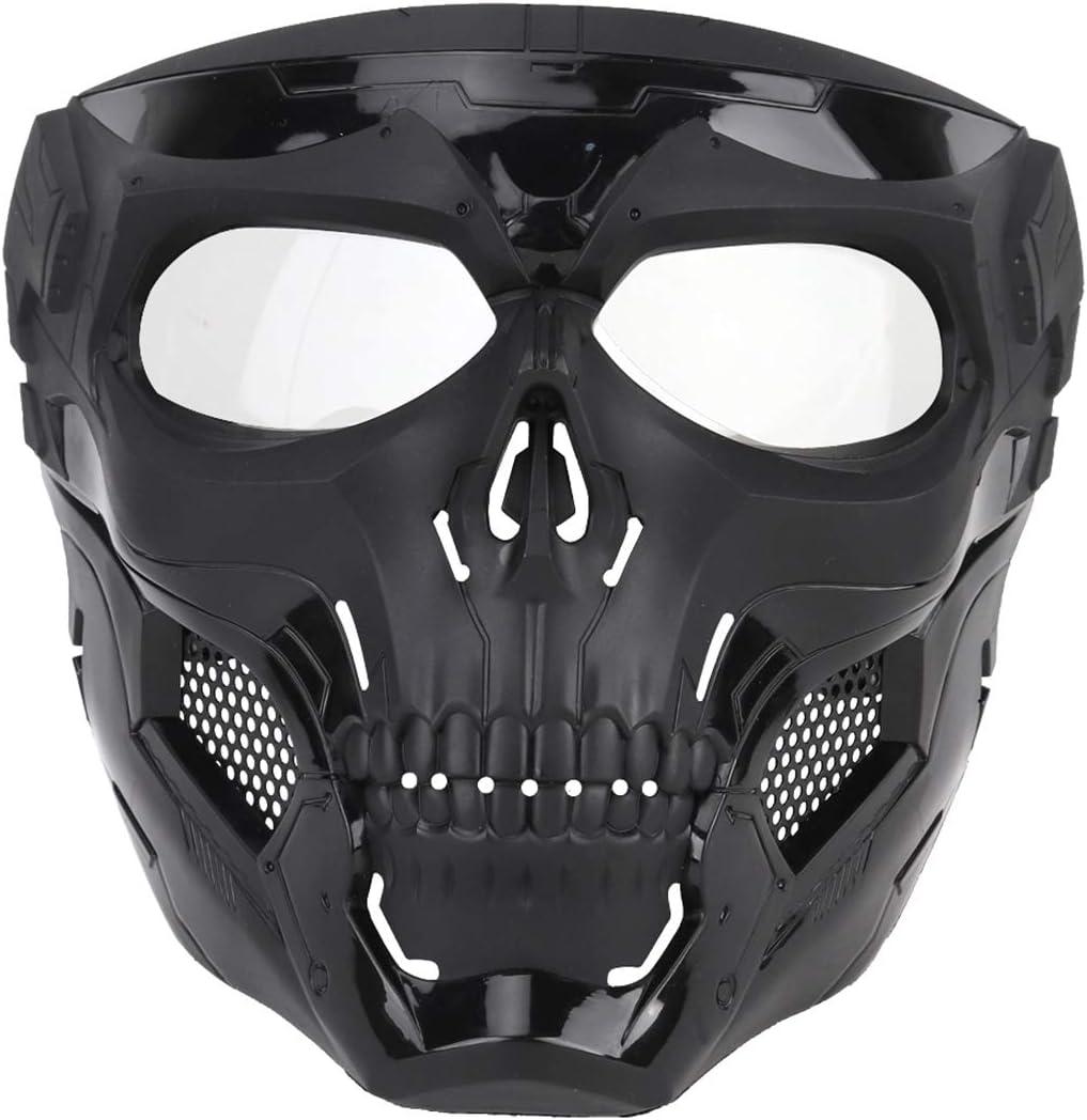 BOROK Máscara Táctica del Cráneo, Máscara de Paintball para Airsoft / Fast / CS -MA-110-BK