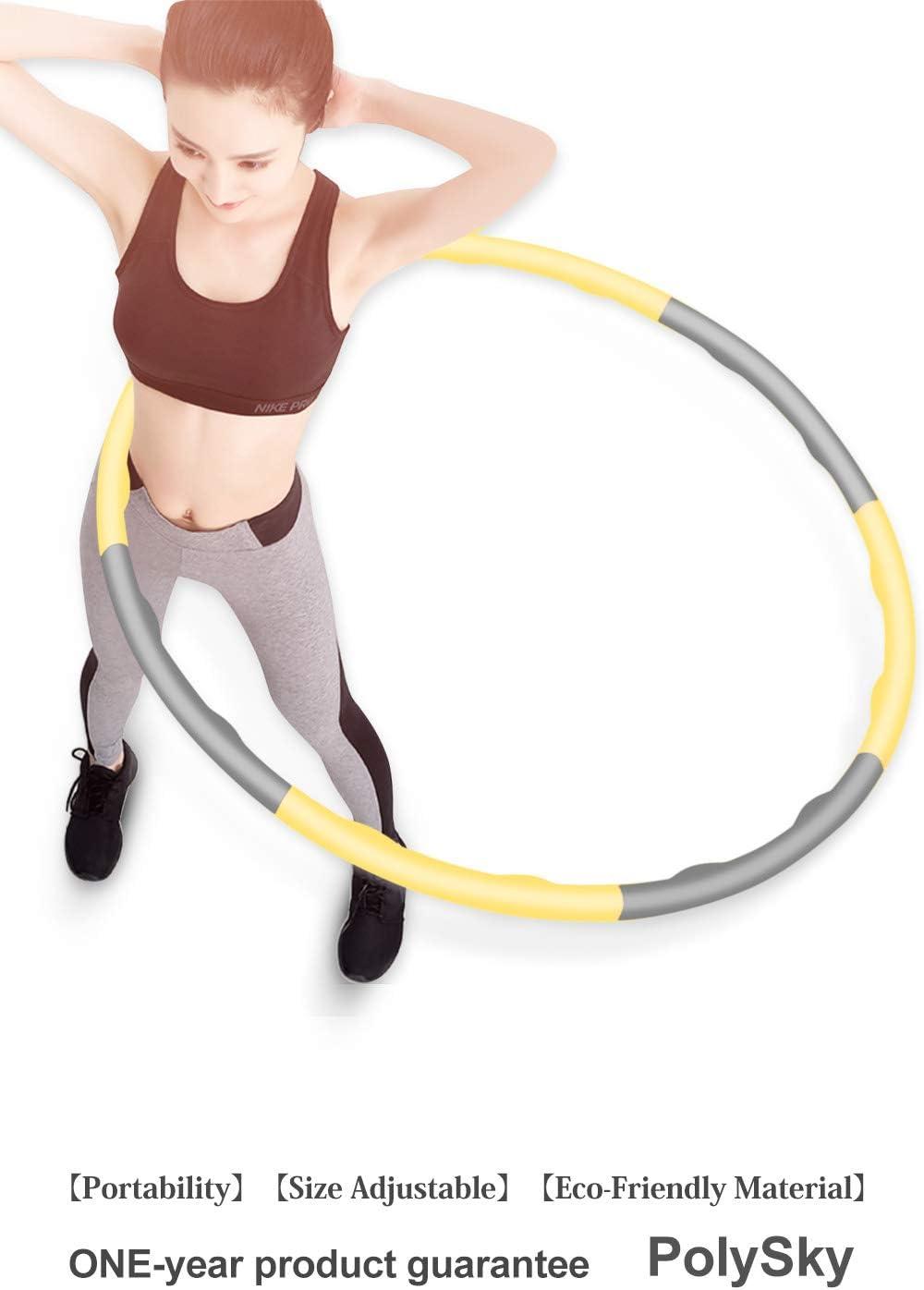 Merpin Fitness Cercle de Perte de Poids Minceur Cercle de Gymnastique Cercle Amovible rev/êtement de Mousse de Massage Structure Vague pour la Perte de Poids Fitness entra/înement