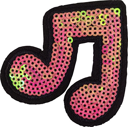 Double Sixteenth note Music Notes music scale classical musical instrument kids cartoon patch Applique for Clothes Great as happy birthday -