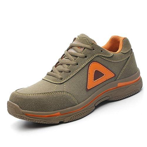 Zapatillas de Seguridad para Hombre Ligeras y Comodas Zapatos de Trabajo S3 Puntera de Acero Zapatos de Seguridad: Amazon.es: Zapatos y complementos
