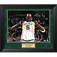 $490 » Signed Kevin Garnett Photograph - autograph White jersey tug 2024 - Autographed NBA Photos