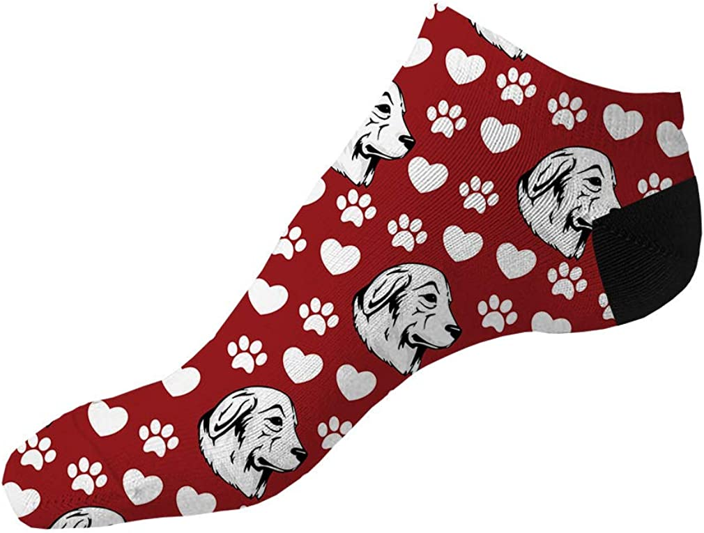 Maremma Sheepdog Dog Red Pattern Men-Women Adult Ankle Socks Novelty Socks