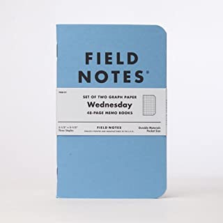product image for Field Notes Wednesday Limited Edition Graph Memo Books, 2-Pack (3.5x5.5-Inch)