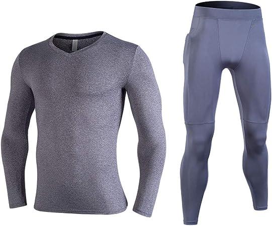 KPTKP 2-Pack Ropa de Fitness, Hombres de Ejecución de Ropa Transpirable y cómodo, Buena absorción de la Humedad y Elasticidad, Conveniente para la Yoga y de la Aptitud,D,M: Amazon.es: Hogar