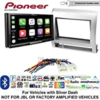 Volunteer Audio Pioneer AVH-W4400NEX Double Din Radio Install Kit with Wireless Apple CarPlay, Android Auto, Bluetooth Fits 2005-2011 Non Amplified Toyota Tacoma (Silver)