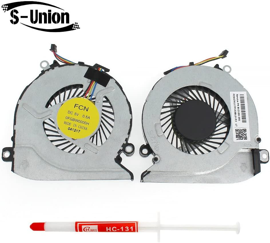 Generic NEW Laptop CPU Cooling Fan For HP Pavilion 17-G 17-G000 17-G100 17-G101DX 17-G179NB 17-G053US 17-G030NR 17-G110NR 17-G149CY 17-G121WM Series Laptop Replacement Notebook Parts