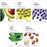 The Face Shop Unisex Glowing Masksheet Combo (Pack of 5)100gm (20gm each)