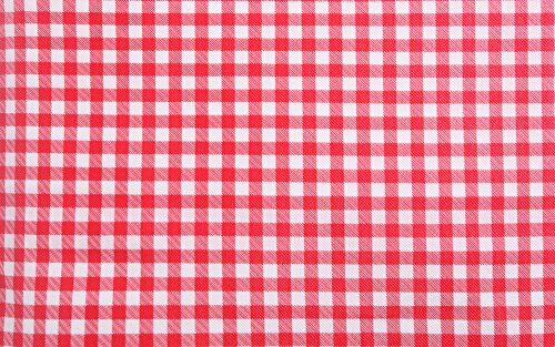 """Waterproof Elastic Edged Flannel Backed Plastic Fitted Table Cloth for Travel,Christmas,Picnics,Parties and Outdoor.Fits 6 ft. Folding trestle/banquet/picnic Table (30"""" x 72"""") RED CHECKERED"""