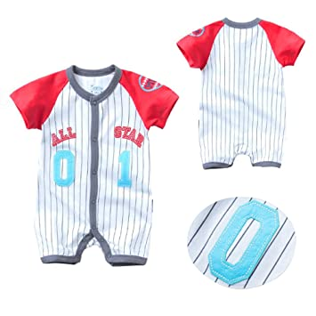 Amazon.es: Traje de Ropa para Bebé niños recién Nacidos Batas de Verano Mameluco de Manga Corta, Numero 01 All Star [59CM]: Juguetes y juegos