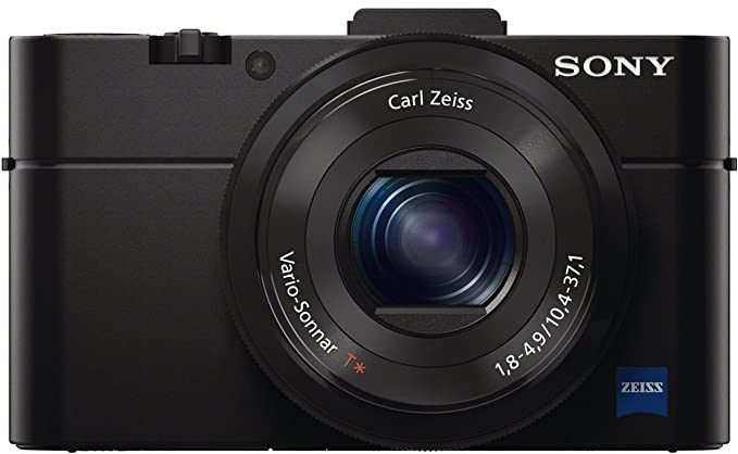 Sony DSC RX100M2 Cyber Shot 20.2MP Point   Shoot Digital Camera with Bag  Black  Point   Shoot Digital Cameras