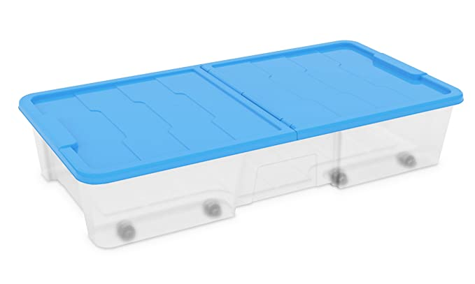 3 opinioni per Dea Home Z511M091 Contenitore Master Box, 35 Lt, 77x39x15.5, Trasparente/Blu