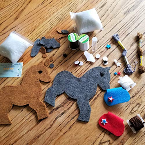 Wildflower Toys Horse Sewing Kit Kids - Felt Craft Kit Beginners ages 7+ - Makes 2 Felt Stuffed Horses by Wildflower Toys (Image #3)