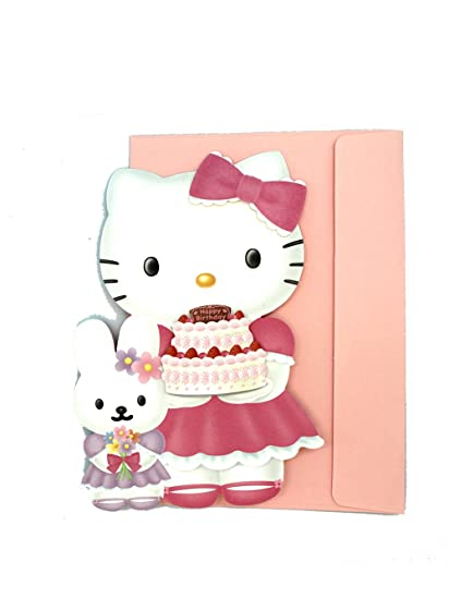 Amazon Pink Hello Kitty Birthday Card Hello Kitty Happy