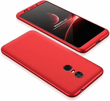 DESCHE compatibles con funda Xiaomi Redmi 5 Plus Rojo, PC duro ...