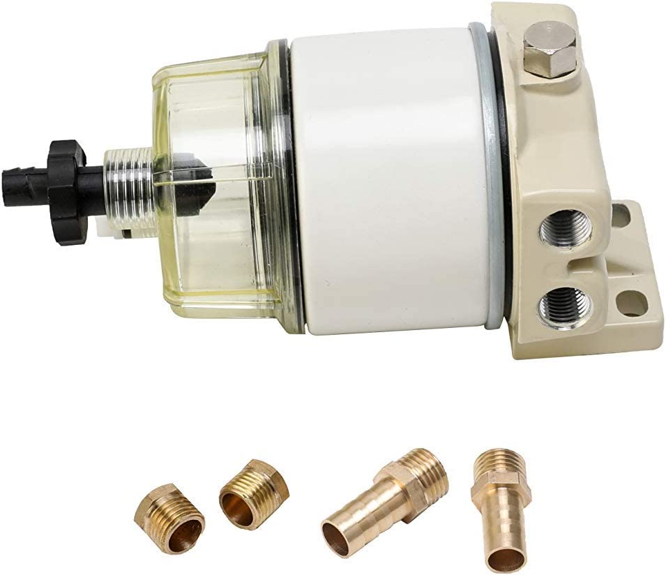 Marine R12T Fuel Filter Water Separator Kit Renewed Replaces S3240,18-7947,187947,17670-ZW1-030GH,99105-20006,9-37812,120R-RAC01,120R-RAC02 Assembly Diesel Gas Engines 120AT NPT ZG1//4-19