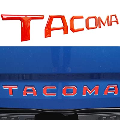 Arita Tailgate Insert Letters for Toyota Tacoma 2016 2020 2020 2020 2020-3M Adhesive & 3D Raised Tailgate Letters for Tacoma (Gloss Red): Automotive