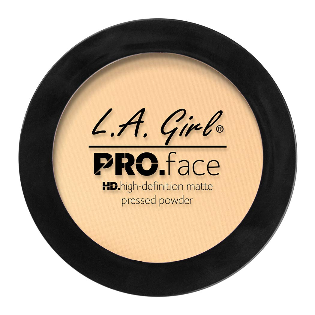 L.A. Girl Pro Face HD Matte Pressed Powder, Classic Ivory, 0.25 Ounce (Pack of 3)