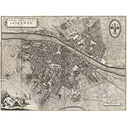 Wall Art Print entitled Vintage Map Of Florence Italy (1847) by Alleycatshirts @Zazzle | 48 x 36