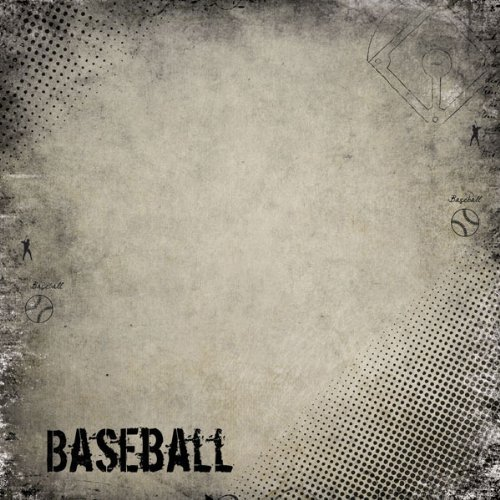 Baseball Antique (34916) 12 inch x 12 inch Scrapbook Paper - 1 ()