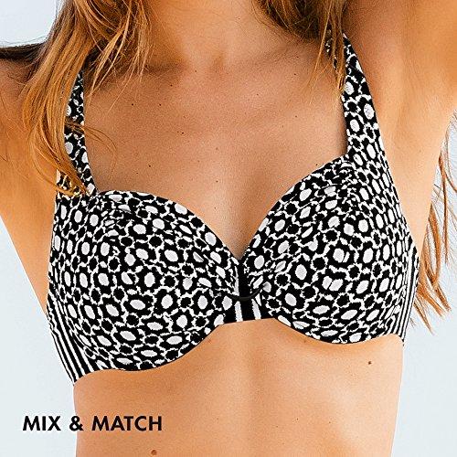 Bikini 430 Faia Hermine oberteil Mehrfarbig wei schwarz Rosa Donna Bikini zIgBAzwq