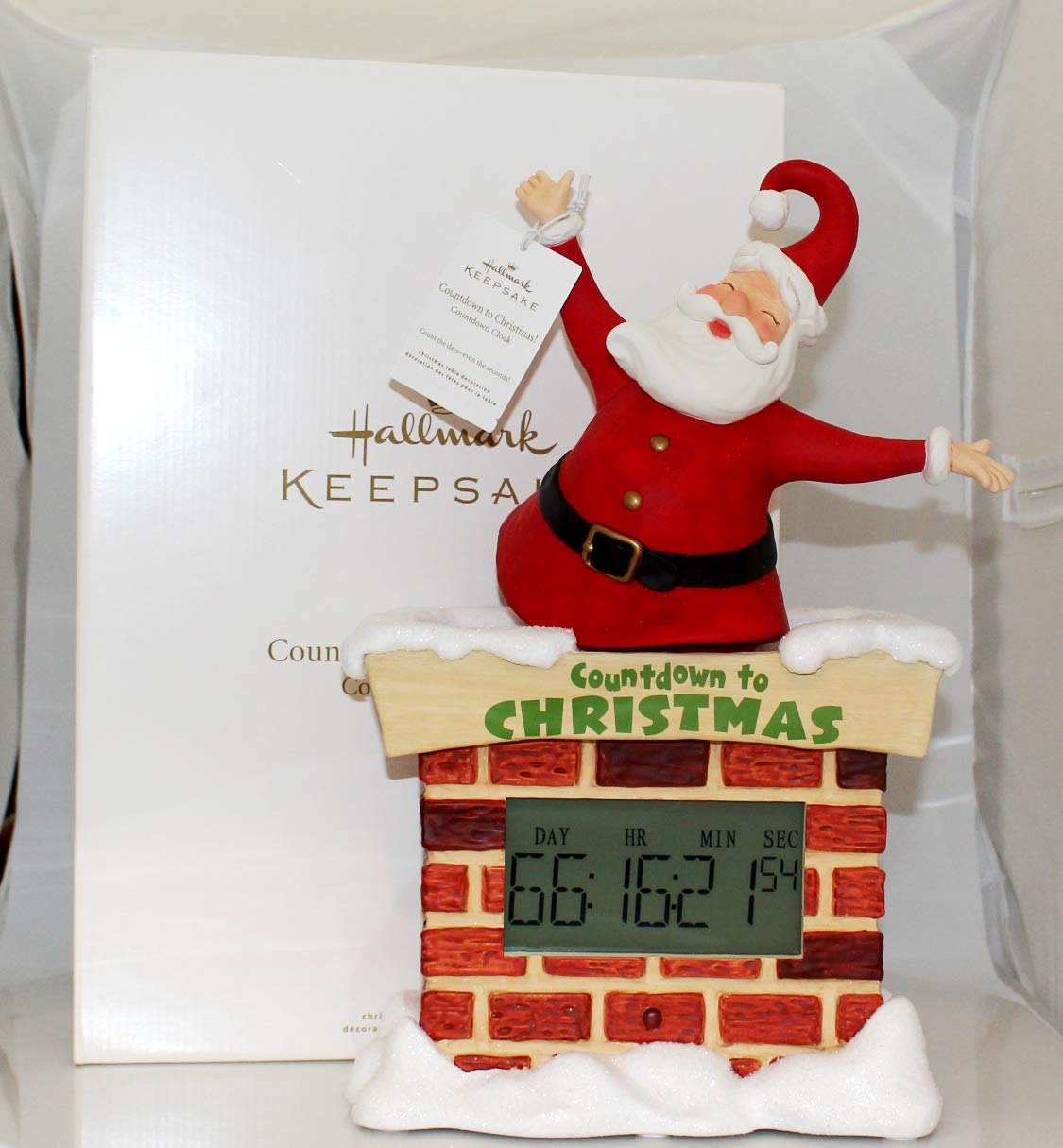 Countdown To Christmas Clock.Hallmark Christmas Large Countdown To Christmas Santa Tabletop Decoration