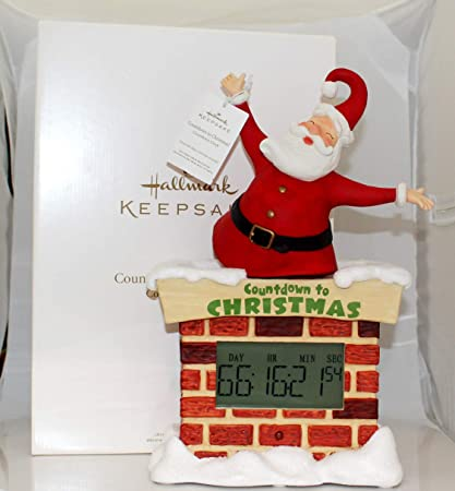 Hallmark Christmas Large Countdown To Christmas Santa Tabletop Decoration