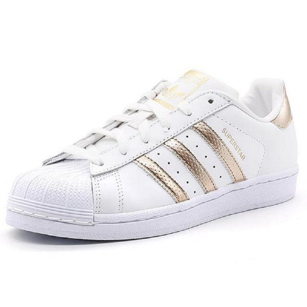 Adidas Originals Women's Superstar W Fashion Sneaker (Womens 8.5, Rose Gold)