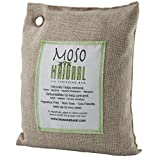 Moso Natural 500 gm Air Purifying Bag Deodorizer. Odor Eliminator for Kitchens, Living Areas, Bedrooms and Basements. Absorbs and Eliminates Odors. Natural Color