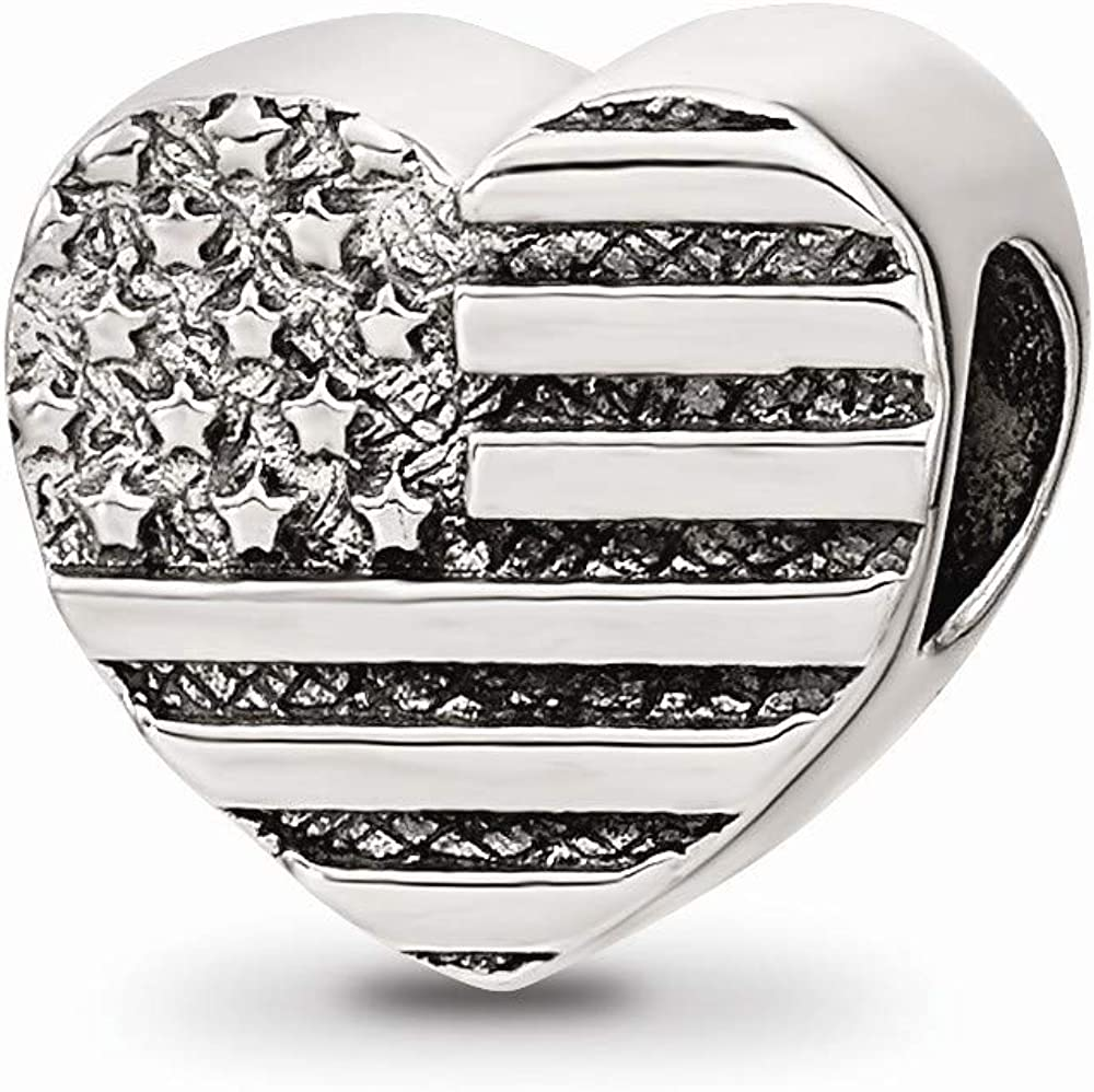 Solid 925 Sterling Silver Love Vase Charm Bead
