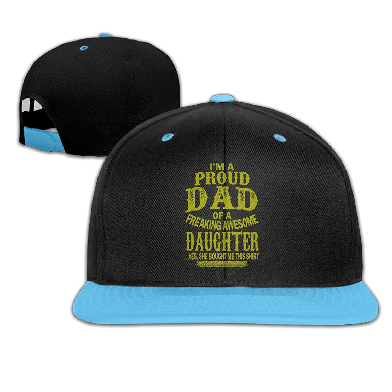 Unisex-child Baseball Caps Proud Dad Of A Freaking Adjustable Mens Snapback