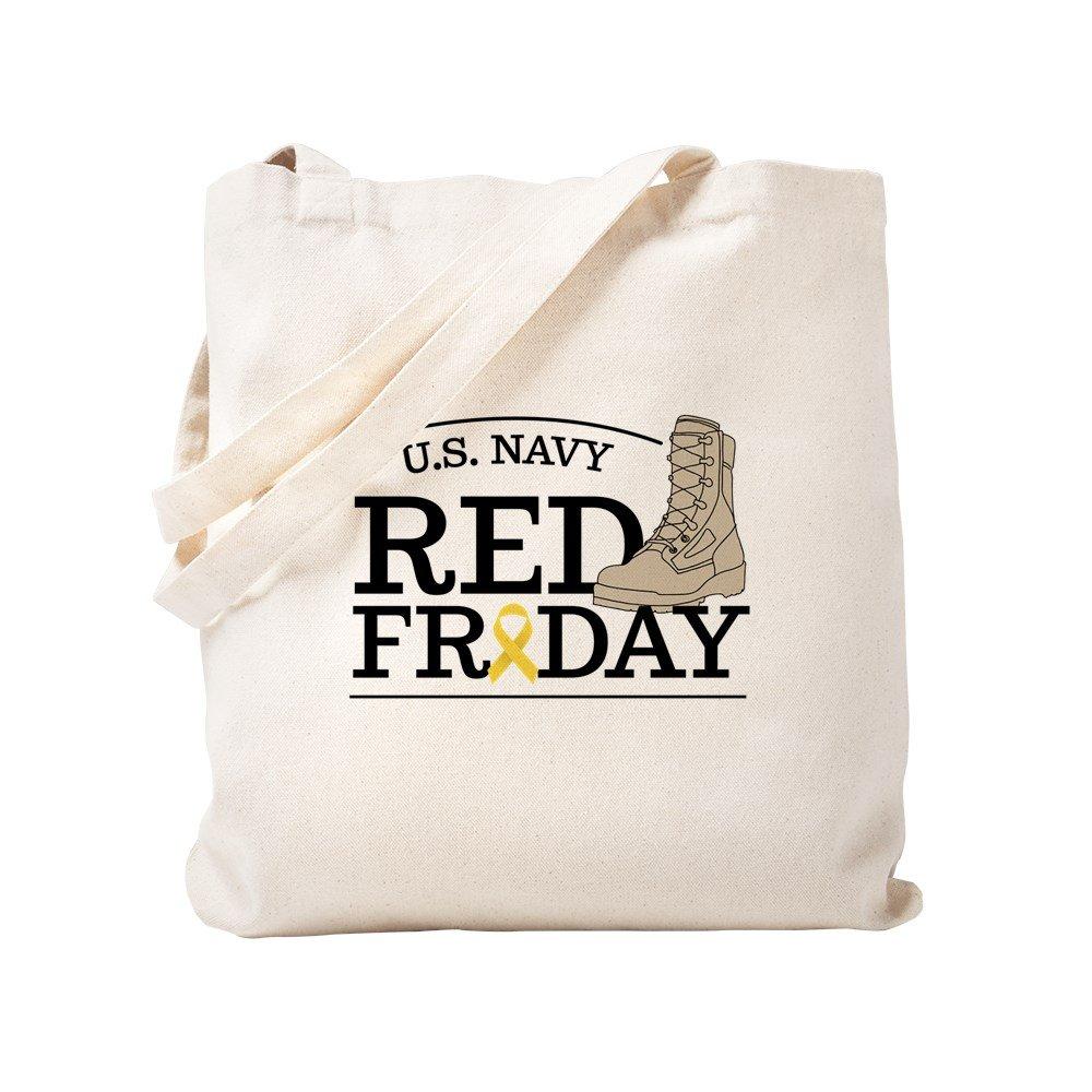 CafePress - Navy RED Friday Boot - Natural Canvas Tote Bag, Cloth Shopping Bag