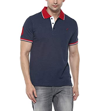 7d72af33bff5 AMERICAN CREW Men s Cotton Blend Polo TShirt  Amazon.in  Clothing ...